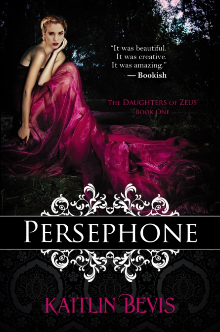 Second edition book cover of the young adult, greek mythology retelling, Persephone book one of the Daughters of Zeus series. Features the greek goddess of Spring, Persephone