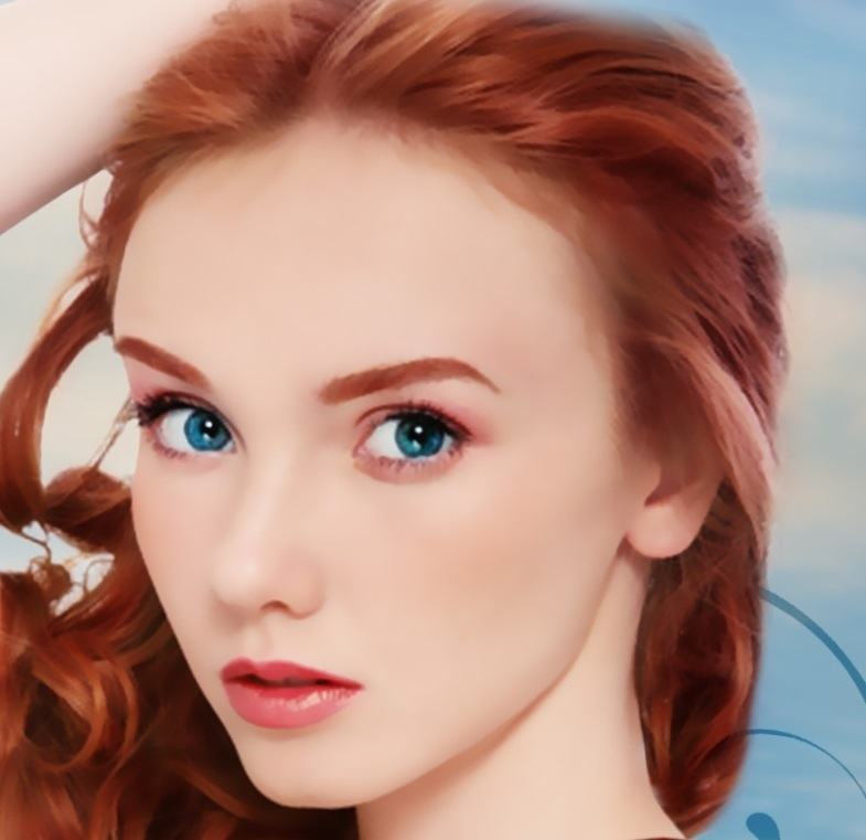 Aphrodite, the goddess of love, as imagined in the young adult, greek mythology retelling, The Daughters of Zeus series by Kaitlin Bevis. Red hair, aquamarine eyes, and creamy skin