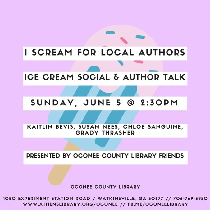 I SCREAM FOR LOCAL AUTHORS