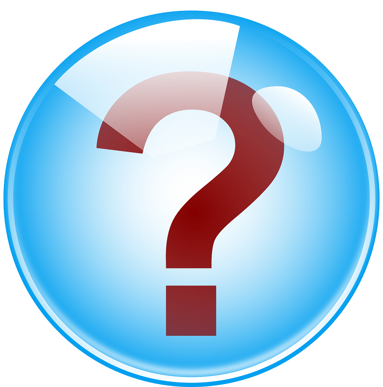 Question mark in a blue bubble. Repeating icon for the frequently asked questions in the Daughters of Zeus series a young adult greek mythology retelling by Kaitlin Bevis