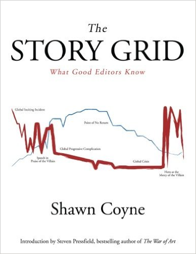 Book cover for The Story Grid by Shawn Coyne, #amwriting, #amediting, book review, how to write, how to edit