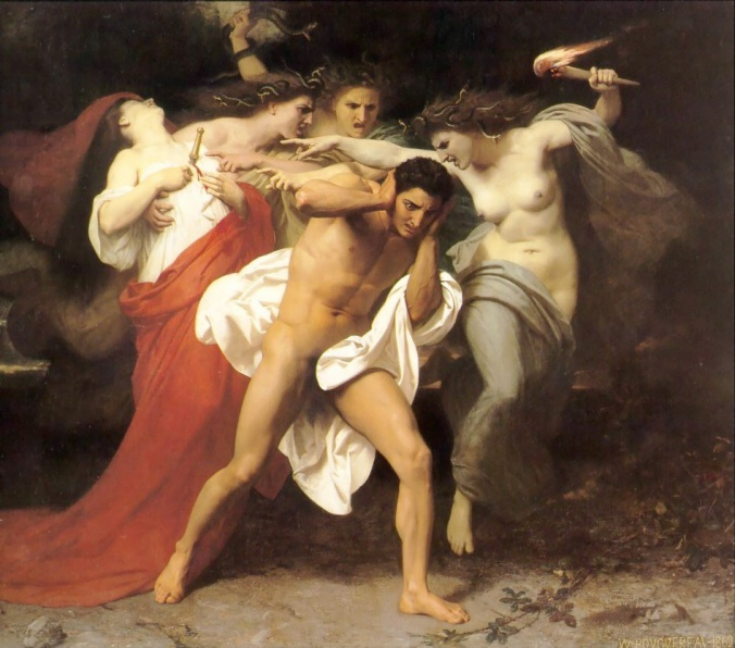 William-Adolphe Bouguereau (1825-1905) - The Remorse of Orestes (1862).jpg Public Domain. Greek mythology